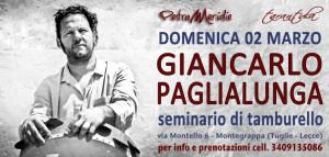 Corso di Tamburello con Giancarlo Paglialunga @ Scuola di musica Petrameridie | Tuglie | Puglia | Italia