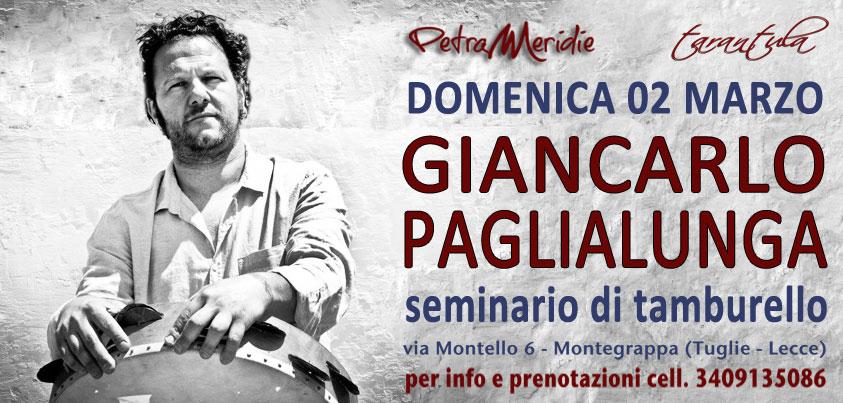 Corso di Tamburello con Giancarlo Paglialunga